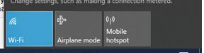 Windows 10 Wi-Fi on Taskbar